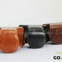Fujifilm X-A3/XA3 Leather Bag/Case/Tas Kamera