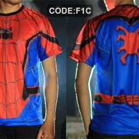 Jual kaos spiderman homecoming,kaos superhero spider-man civil war (spade) Murah