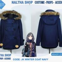 harga Jaket Wanita College Jepang Anime Musim Dingin [JKF Winter Coat Navy] Tokopedia.com