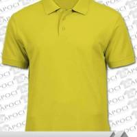 harga Polo Shirt Warna Kuning Kenari Bahan Cvc Berkualitas Tokopedia.com