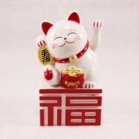 Jual Kucing Hoki Fuk White + Maneki Neko + Kucing Rejeki + Kucing Imlek Murah