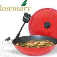 Supra Wok Wajan Rosemary + Spatula Dan Tutup Diameter 36 Cm Limited