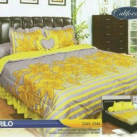 BED COVER SET CALIFORNIA KING 180 X 200 AMARILO/BEDCOVER SET/BADCOVER