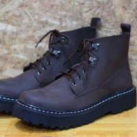 Sepatu Boots Ket's Brown For Safety Ready