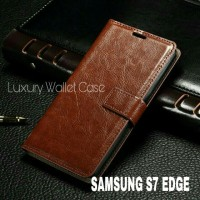 Luxury Wallet Case For Samsung S7 Edge / Flip Cover Leather Case