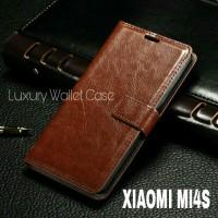 Luxury Wallet Case For Xiaomi Mi4s / Flip Cover Leather Case