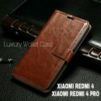 Luxury Wallet Case For Xiaomi Redmi 4 / Xiaomi Redmi 4 Prime Flipcover