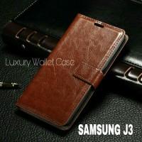 Luxury Wallet Case For Samsung J3 / Flip Cover Leather Case Samsung J3