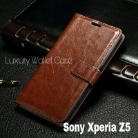 Luxury Wallet Case For Sony Xperia Z5 / Flip Cover Leather Case Xperia