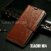 Luxury Wallet Case For Xiaomi Mi4 / Flip Cover Leather Case Xiaomi Mi4