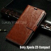 Luxury Wallet Case For Sony Xperia Z5 Compact / FlipCover Leather Case