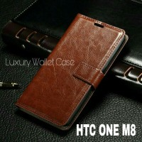 Luxury Wallet Case For HTC ONE M8 / Flip Cover Leather Case