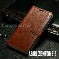 Luxury Wallet Case For Asus Zenfone 5 / Flip Cover Leather Case