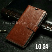 Luxury Wallet Case For LG G4 / Flip Cover Leather Case For LG G4