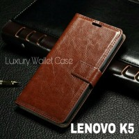 Luxury Wallet Case For Lenovo K5 Plus / Flip Cover Leather Case