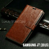 Luxury Wallet Case For Samsung J7 (2015) / Flip Cover Leather Case
