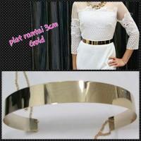 belt plat rante 3cm gold