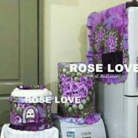 Jual set gkm motif rose love ungu Murah