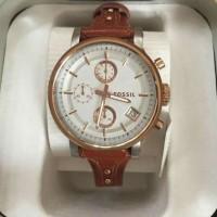 Jam Tangan Fossil ES3837 Boyfriend Ladies Chronograph Brown Rose Gold