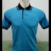Kaos Kerah Polos - Polo Polos Murah Warna Biru Muda