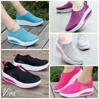 Sepatu Fashion / Slip On Sneakers Poxing Platform Jaring T 4cm BL-S102