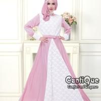 Baju Muslim Gamis Pesta Dress Terusan Hamil Menyusui Kondangan Pink