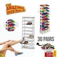 Amazing Shoes Rack / Rak Sepatu 10 Tingkat Rakitan Kuat Murah