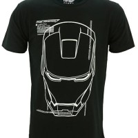 Kaos Baju Superhero TopGear Ironman Jarvis (Glow In The Dark)