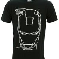 Jual Kaos Baju Superhero TopGear Ironman Jarvis (Glow In The Dark) Murah