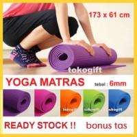 Jual Matras Yoga FlexFit 6mm + BAG | Yoga Mat | Mattress Murah