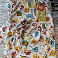 Baju Tidur Anak / Setelan size XL merk Velvet Junior Motif OWL