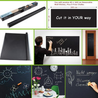 Wallpaper Sticker | Wall Stiker BLACK Chalk Board 45 cm x 2 Mtr