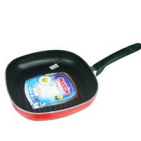 MAXIM wajan/alat pangangan/pemanggangan teflon 26cm square grill
