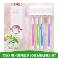Dispenser Odol Putih Touch Me - Holder Sikat Gigi