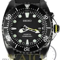 Jam Tangan Pria Seiko Kinetic Diver SKA427P2 Rubber Fullblack