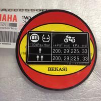 Stiker Warning Tekanan Ban