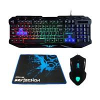 Keyboard+Mouse set Gaming Rexus Warfaction Vr1 ORIGINAL Free Mouse pad