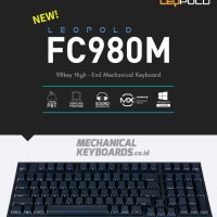 Leopold FC980M Navy Front Print (Cherry MX Brown)