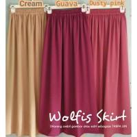 Rok Wolfis / Rok Kampus / ootd skirt / Rok panjang