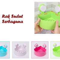 Rak holder kamar mandi / rak pojok / rak gantung soap holder
