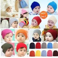 Kupluk topi anak bayi warna warni kid beanie hat