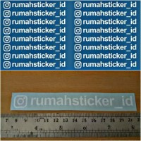 Sticker / Stiker Cutting Promosi Akun Media Sosial Instagram DLL