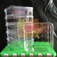 Toples Kue Kering/ Snack Bentuk Persegi | Toples Mika 500 gram