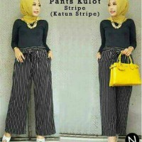 klp pants kulot stripe / baju wanita blouse cln panjang celana