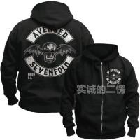 Jaket Sweater Hoodie Avenged Sevenfold A7X Zipper