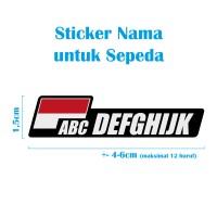 Jual Custom Nama Cutting Sticker untuk Sepeda dengan Bendera Indonesia Murah