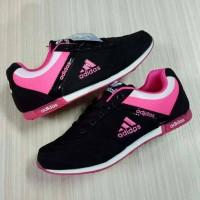 sepatu casual adidas neo cewek woman hitam pink import vietnam 36-40