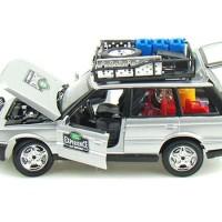 Diecast burago 1:24 Range rover safari silver