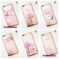Samsung Galaxy J7 Prime Case / Softcase Rose Gold Bumper : Chanel Rose
