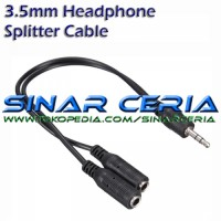 Dual 3.5 mm Earphone Headphone Jack Splitter